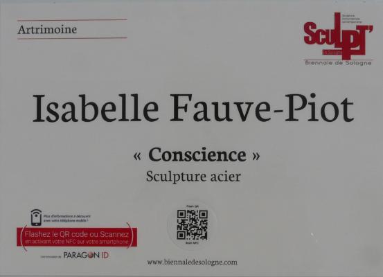 Inauguration de CONSCIENCE pendant la biennale de sculptures monumentales de Sologne
