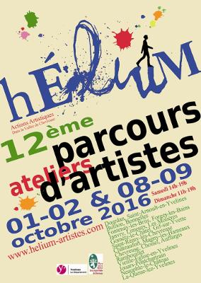 Affiche du 12eme Parcours HELIUM 2016 en Vallée de Chevreuse