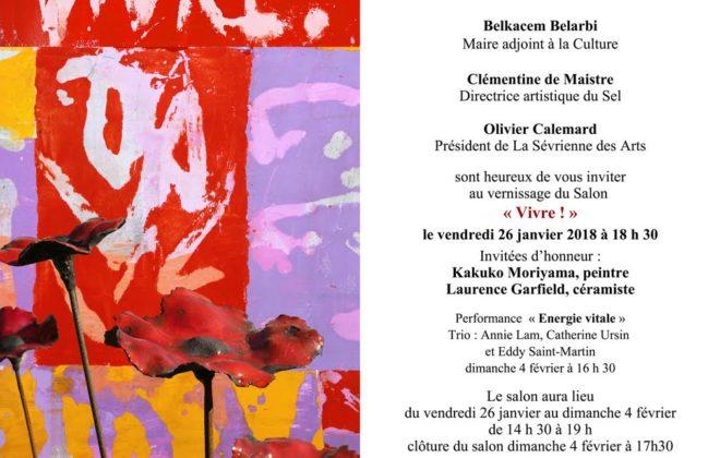 Affiche de l'exposition Vivre organisée par La Sévrienne des Arts au SEL à Sèvres