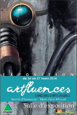Affiche ARTFLUENCES concours d'arts visuels de la ville de Guyancourt