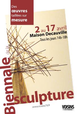 Affiche de la Biennale de la Sculpture de Voisins le Bretonneux - 2016