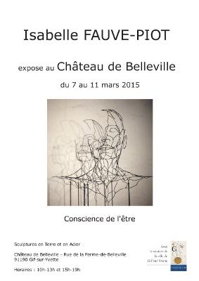 Affiche de l'exposition au Château de Belleville à Gif-sur-Yvette en mars 2015
