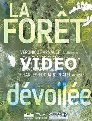 """1ère de couverture du livret de l'exposition """"La forêt dévoilée"""" à Rambouillet du 5 au 31 mai 2017"""