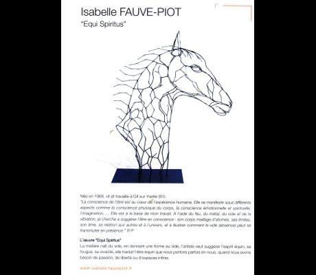 Biennale d'art populaire de Bourg-en-Bresse - 2015 - Catalogue - Présentation d'Equi Spiritus.