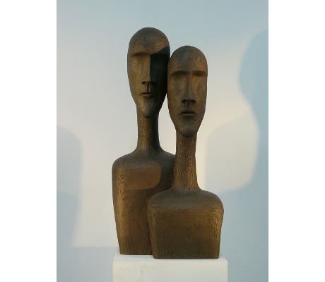 Sculpture Introspection 2 - Couple PRNM - 40x85x36.5