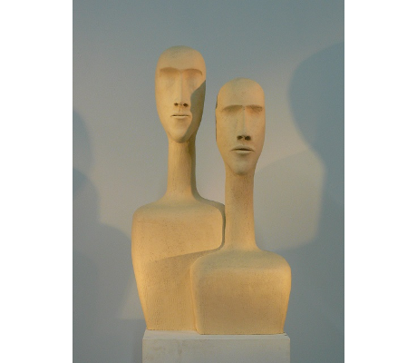 Sculpture Introspection 3 - Couple PRAM- 46X83X33